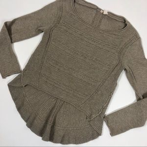Anthropologie Moth Textured Open Knit Sweater